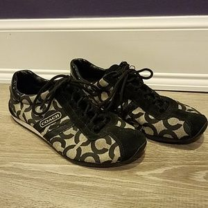 Black & Grey Coach Sneakers - Size 7.5